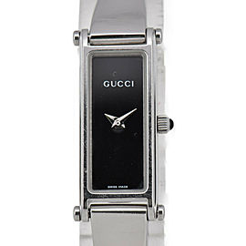 GUCCI 1500L Black Dial SS Quartz Ladies Watch