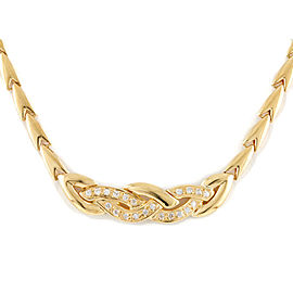 18K Yellow Gold Diamond Kusari Chain Necklace CHAT-911