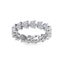 GLAM ® Eternity ring in 14K gold with white diamonds of 1.07 ct in weight