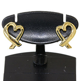 TIFFANY & CO. 18K Yellow Gold Paloma Picasso Loving Heart Earrings