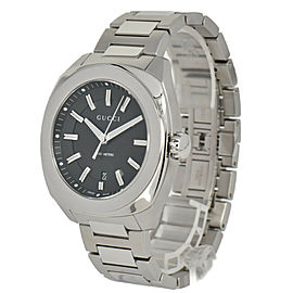 GUCCI 142.2 YA142201 black Dial SS Date Quartz Men's Watch