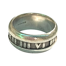 Tiffany & Co. Sterling Silver Atlas Roman Numeral Mens Ring Size 7