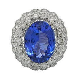 Platinum Tanzanite Diamond Ring Size 7.5