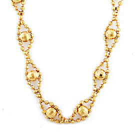 18k Yellow gold Cut ball Chain mirror ball Necklace CHAT-537