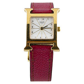 Hermès Heure H HH1.201 Gold-Plated 21mm Quartz Women Watch