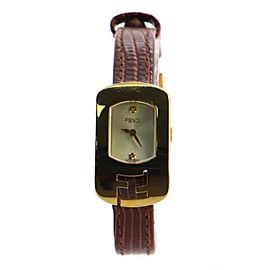 Fendi Chameleon Quartz Watch Stainless Steel and Leather 18