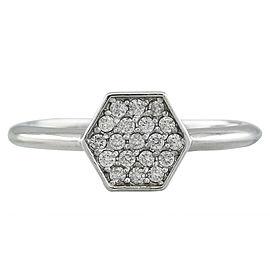 0.22 Carat 14K White Gold Diamond Ring