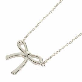 TIFFANY & Co. Silver Ribbon motif Necklace