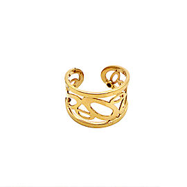 Roberto Coin 18K Yellow Gold Diamond Cuff Ring Size 6