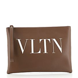 Valentino VLTN Wristlet Clutch Printed Leather Medium