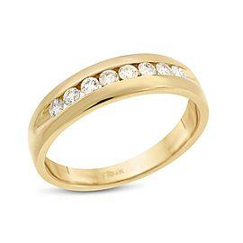 14k Yellow Gold 0.50ct. Diamond Men's Wedding Band Size 11
