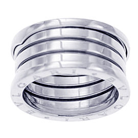 Bulgari B.zero1 18K White Gold Ring Size 5.5