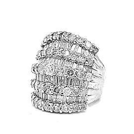 5.56 Carat White Diamond Statement Ring