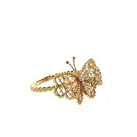 Gucci Le Marche Des Merveilles Butterfly Ring 18K Yellow Gold with Diamonds