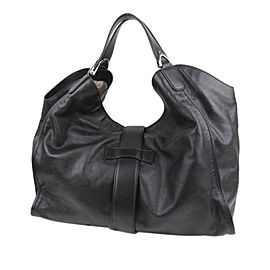 Leather Stirrup Tote Bag