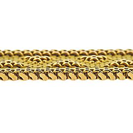 Italian Rose Yellow Gold Wide Bracelet