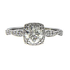 Tacori 18K White Gold Diamond Engagement Ring Size 6.5