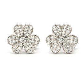 Van Cleef & Arpels Cosmo Earrings 18K White Gold Diamond