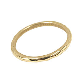 Tiffany & Co. Picasso 18K Yellow Gold Hammered Wedding Ring Size 7