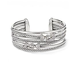 David Yurman Buckle Crossover Cuff Bracelet with Diamonds