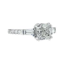 Platinum 2.30 Carat F SI2 Gia Certified Cushion Cut Diamond Engagement Ring
