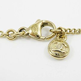 CHANEL Gold-tone Coco Mark Logo Flower Vintage Chain Necklace CHAT-850