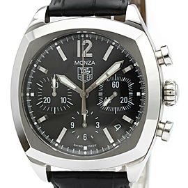 Polished TAG HEUER Monza Chronograph Steel Automatic Mens Watch CR2113