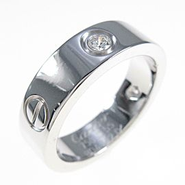 Cartier 18K White Gold Love Half Diamond ring TkM-128