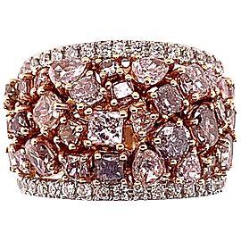 5 Carat Natural Pink Diamond Cocktail Ring