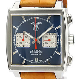 Polished TAG HEUER Monaco Chronograph Steel Automatic Watch CAW2111
