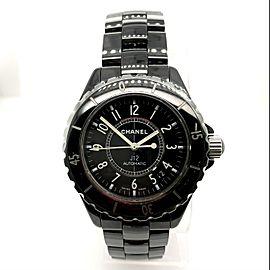 CHANEL J12 Automatic Black Ceramics & Steel Watch