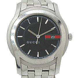 Gucci G Class Stainless Steel Quartz 36mm Mens Watch