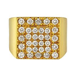 14K Yellow Gold Diamond Ring Size 11