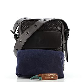 Bottega Veneta Front Pocket Messenger Bag Intrecciato Nappa Small