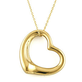 TIFFANY & Co. 18K Yellow Gold Open Heart Necklace CHAT-974