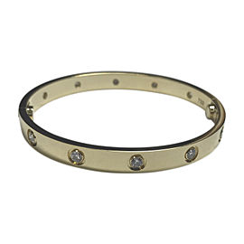 Cartier Love 18K Yellow Gold with Diamond Bracelet Size 17
