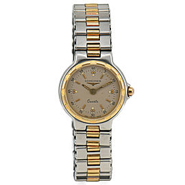 LONGINES Conquest Stainless Steel&Gold Plated Quartz Women's Watch