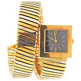 Bulgari Tubogas Tri Color Gold Wrap Bracelet Watch SQ 22 1T