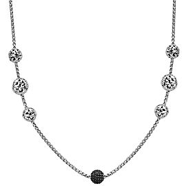 Charles Krypell Sterling Silver Black Sapphire Necklace
