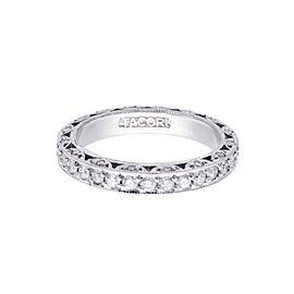 Tacori Classic Crescent Platinum Eternity 1.00ctw Diamond Ring Size 6.5