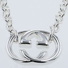 GUCCI Silver925 Interlocking G Necklace TBRK-393