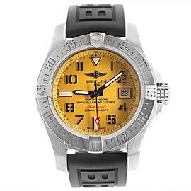 Breitling Avenger II Seawolf Black Steel Automatic Mens Watch