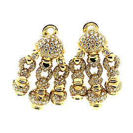 18K Yellow Gold with 5ct Diamond Earrings