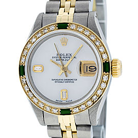 Rolex Datejust Stainless Steel and 18K Yellow Gold Mother of Pearl Diamond Dial Diamond 26mm Women's Watch