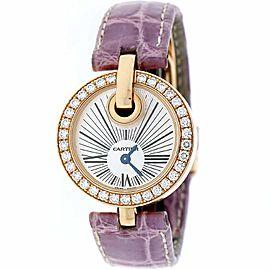 Cartier Captive de Cartier 18K Rose Gold 27MM Silver Sunburst Dial Ladies Watch WG600007