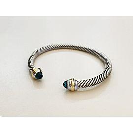David Yurman Cable Collection Sterling Silver Topaz Bracelet
