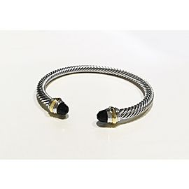 David Yurman Cable Collection Sterling Silver Onyx Bracelet