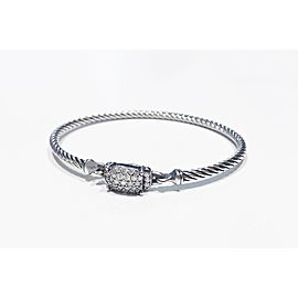 David Yurman Sterling Silver 0.37ct Diamond Bracelet