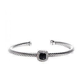 David Yurman Sterling Silver 0.24ct Diamond Black Onyx Bracelet