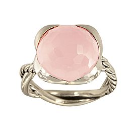 David Yurman Sterling Silver Rose quartz Ring
